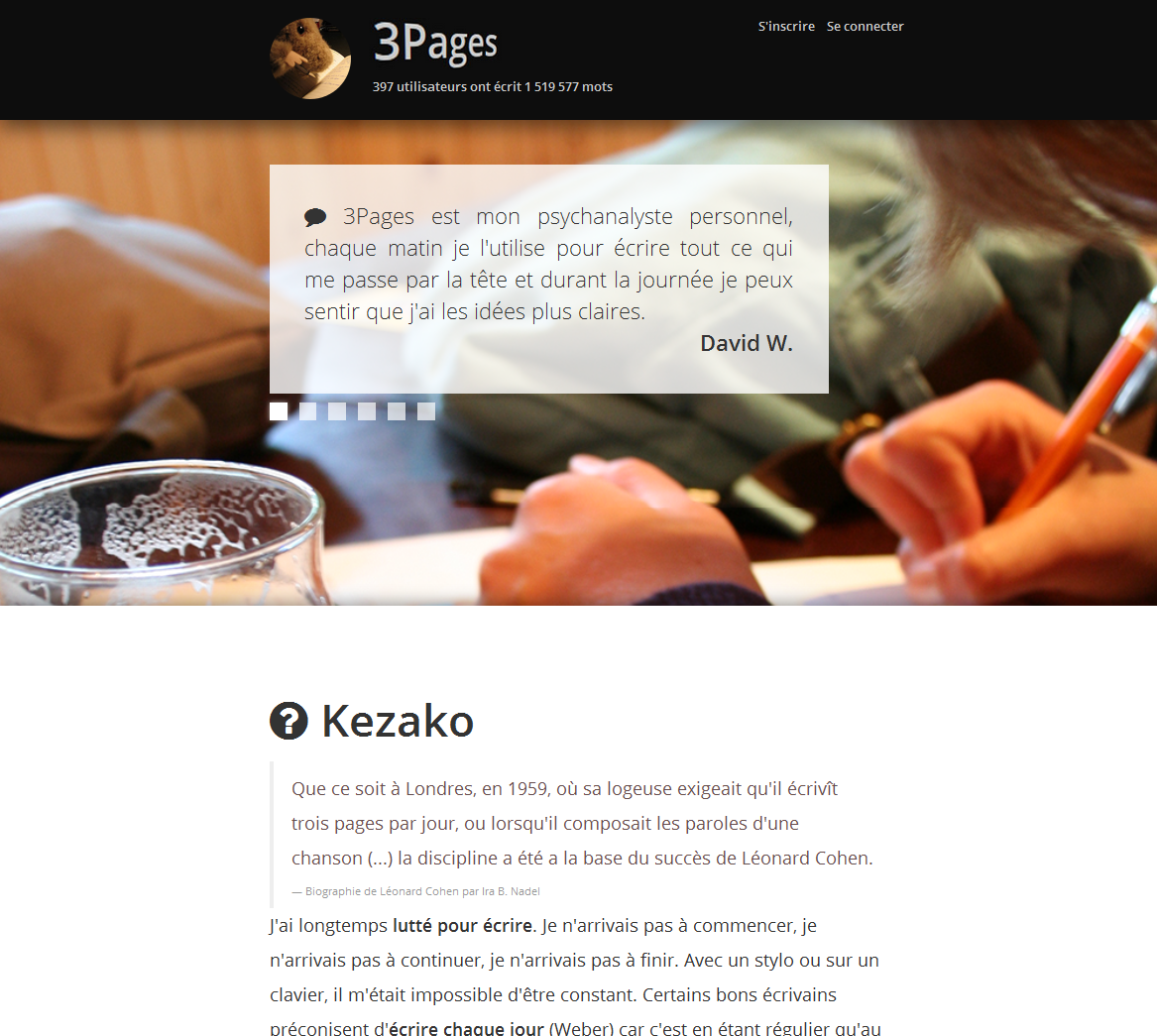 3pages landing page